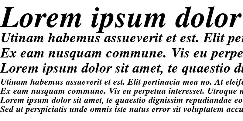 Sample of Roman Bold-Italic