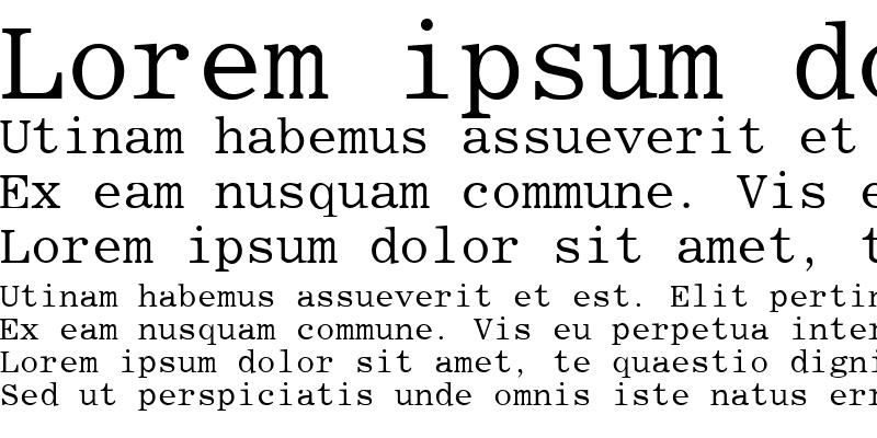 Sample of Roman Fixed-width