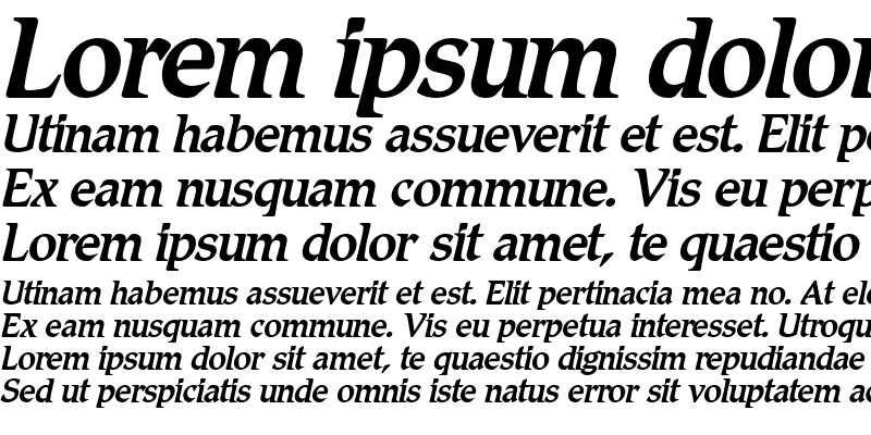 Sample of Romic-MediumItalic