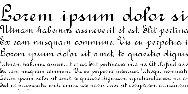 Sample of Rondo Calligraphic