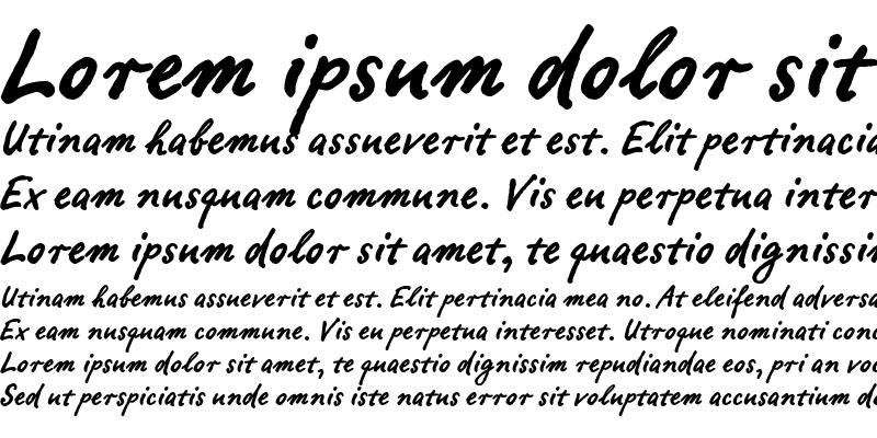 Sample of Ropsen Script Bold