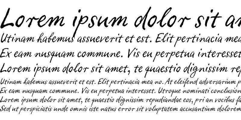 Sample of Ropsen Script Regular