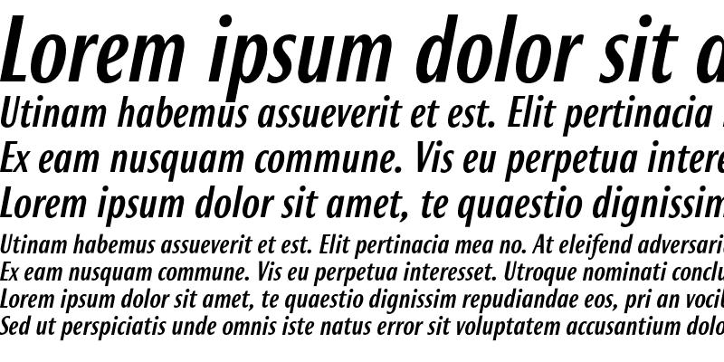 Sample of Roxy Medium Italic