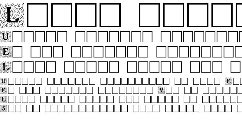 Sample of Roycroft Initials