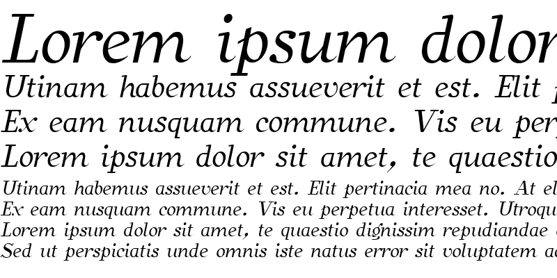 Sample of SafranItalic