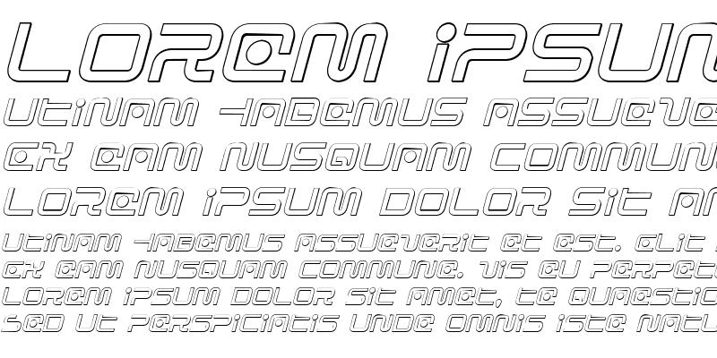Sample of Sagan Outline Italic