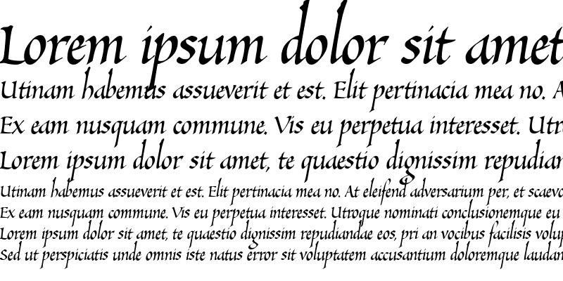 Sample of SallandoItalic