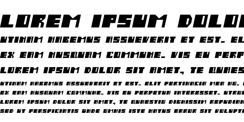 Sample of Salmiak Italic
