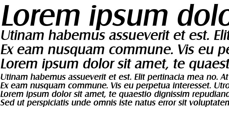 Sample of Salzburg-Serial-Medium RegularItalic