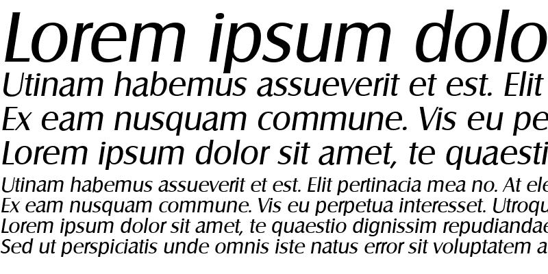 Sample of SalzburgSerial Italic