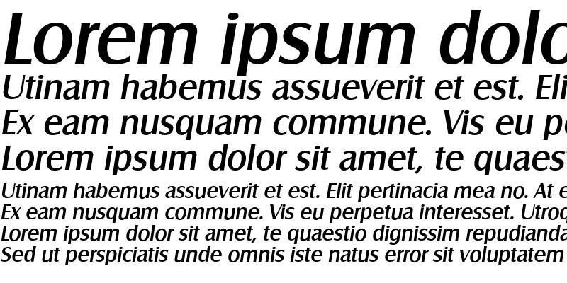 Sample of SalzburgSerial MediumItalic