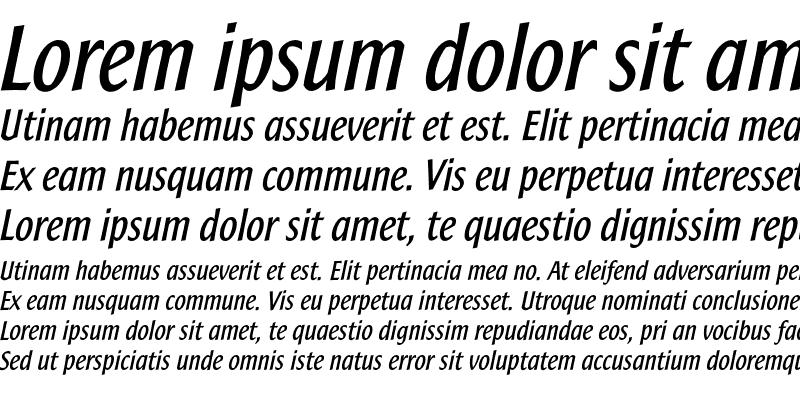 Sample of SamSans Bold Italic