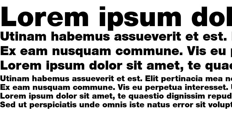 Sample of Sans Black