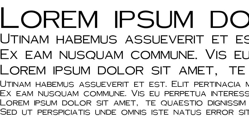 Sample of Sans-Copperplate Gothic