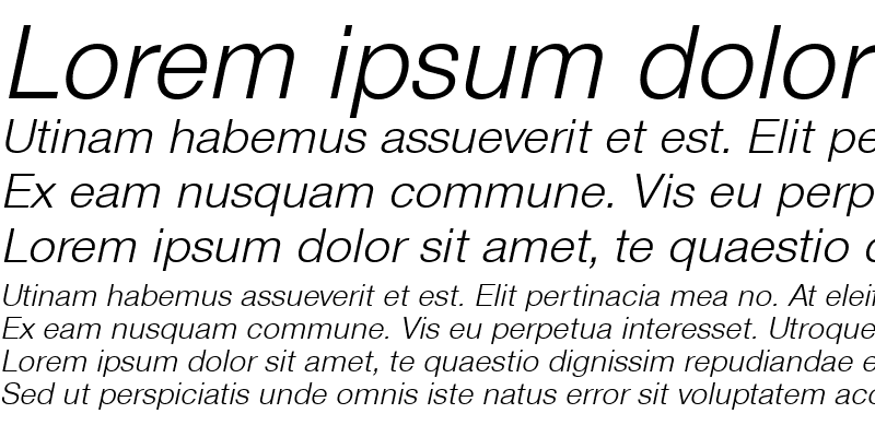 Sample of Sans Light ITALIC