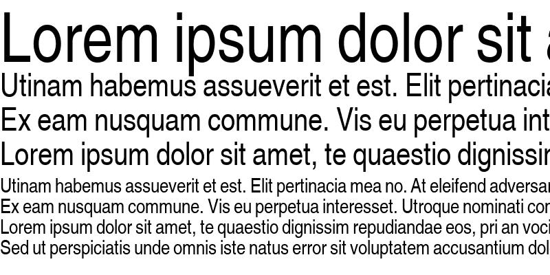 Sample of Sans Narrow
