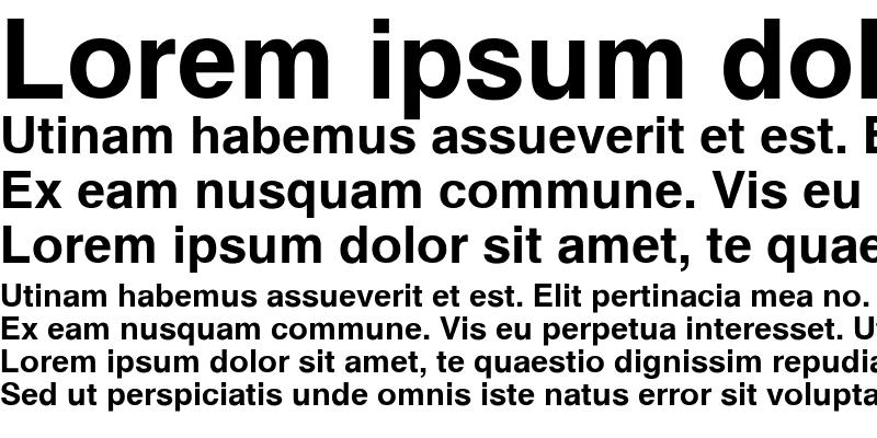 Sample of Sans