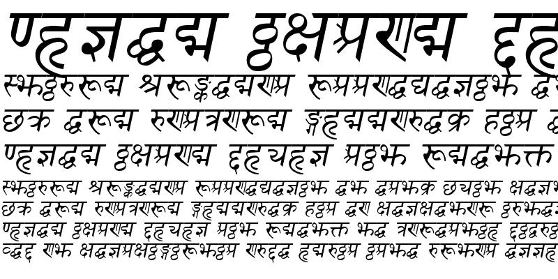 Sample of SanskritDelhiSSK Italic