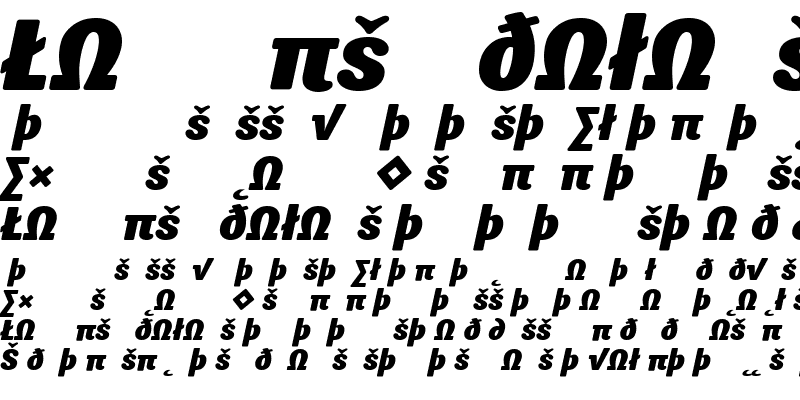 Sample of Sari Black Italic