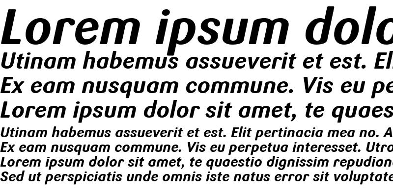 Sample of Sari Bold Italic