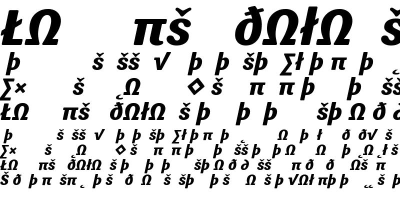 Sample of Sari ExtraBold Italic