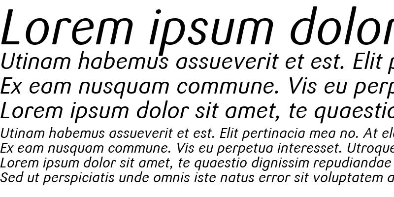 Sample of Sari Italic