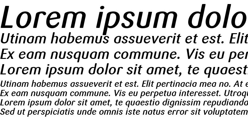Sample of Sari Medium Italic