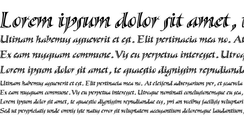 Sample of Sassafras-SxItalic