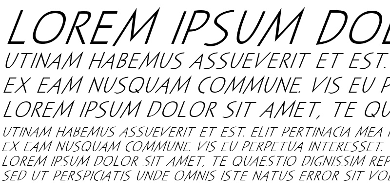 Sample of Sayer Spiritual MN Italic