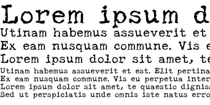 Sample of SBC Distressed Typewriter