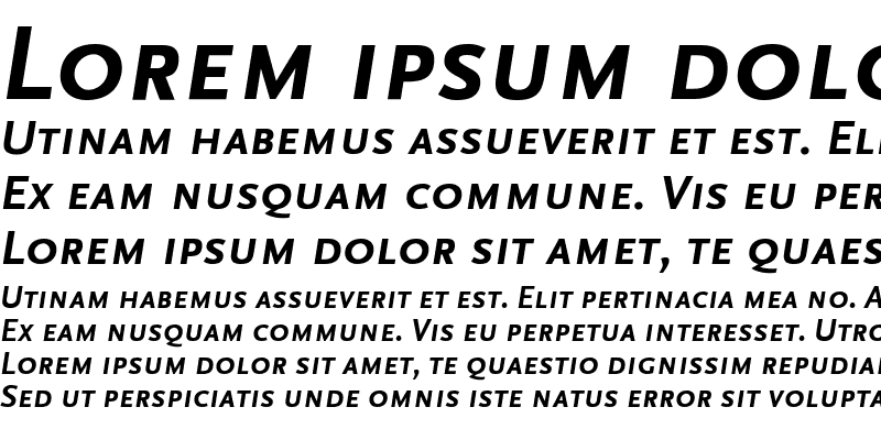 Sample of ScalaSans Caps Bold Italic
