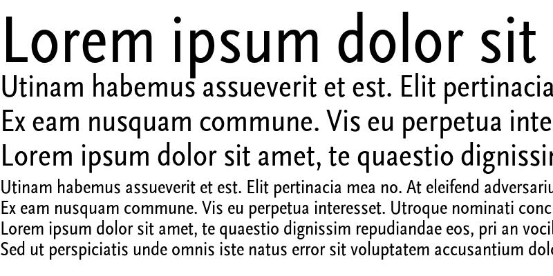 Sample of ScalaSans Condensed