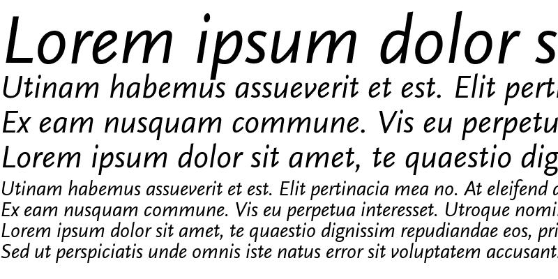 Sample of ScalaSans Italic