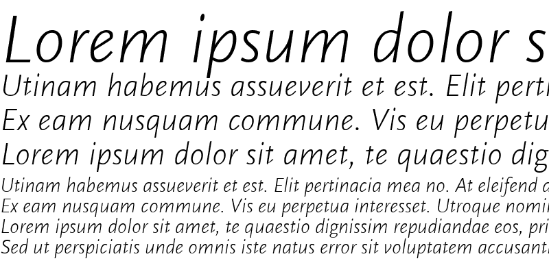 Sample of ScalaSans LightItalic