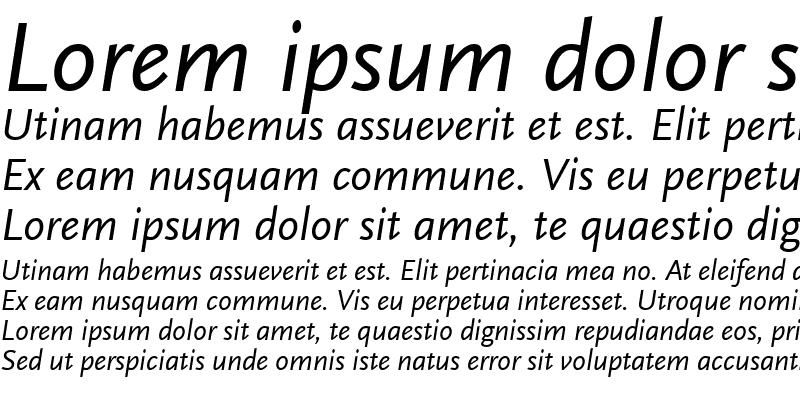 Sample of ScalaSans RegularItalic