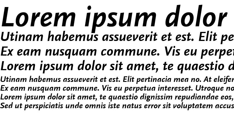 Sample of ScalaSansLF Bold Italic