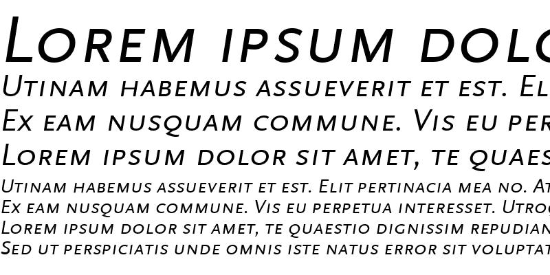 Sample of ScalaSansLF Italic