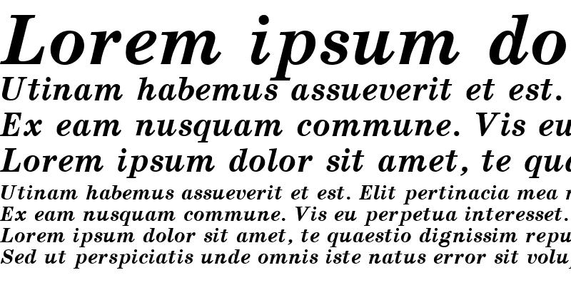 Sample of School Bold Italic