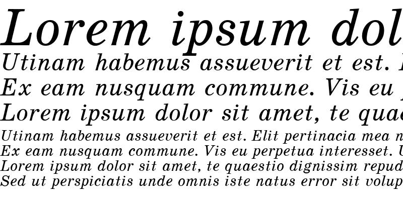 Sample of School Italic