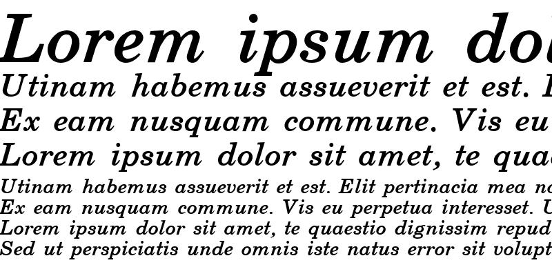 Sample of Schoolbook Bold Italic