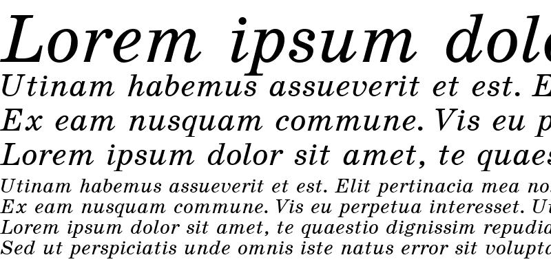 Sample of SchoolBook Italic Cyrillic