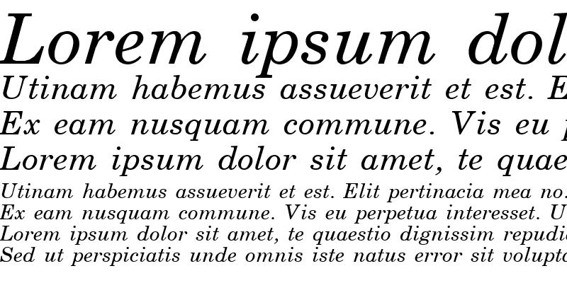 Sample of Schoolbook Italic