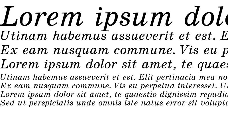Sample of SchoolBookC Italic