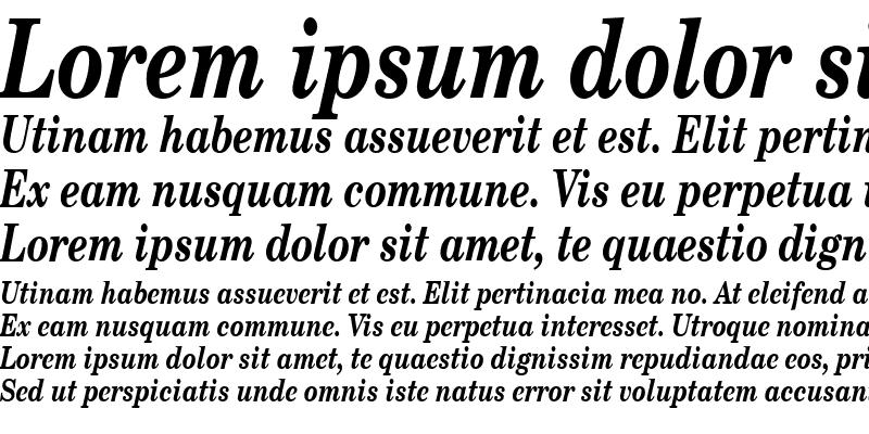 Sample of SchoolbookCond Bold Italic