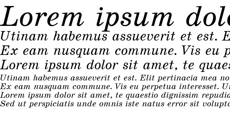 Sample of SchoolBookCTT Italic
