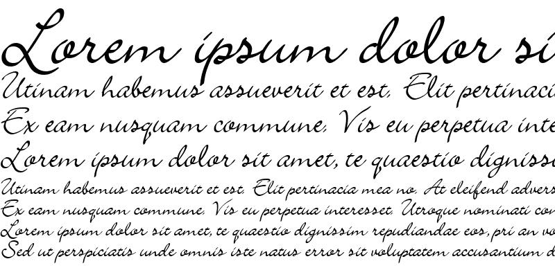 Sample of Scrap Calligraphy Regular