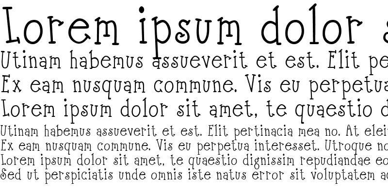 Sample of Scrap Serif