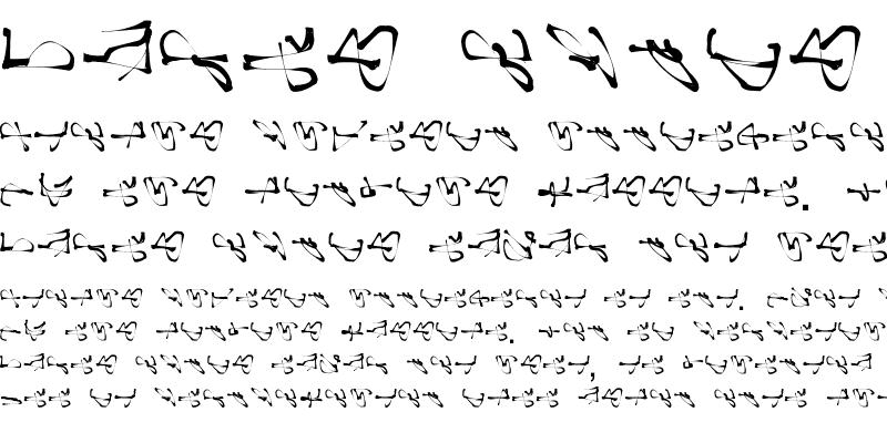 Sample of scribble2 Regular