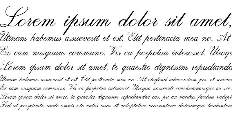 Sample of Script Italic