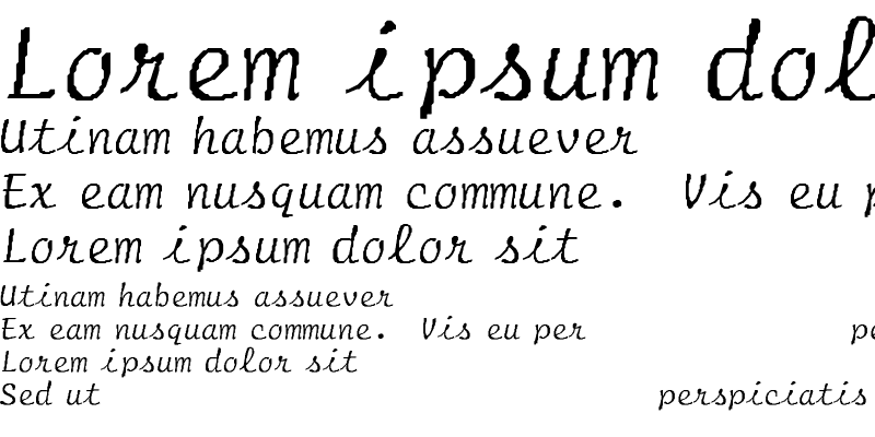 Sample of Script-Normal-Italic